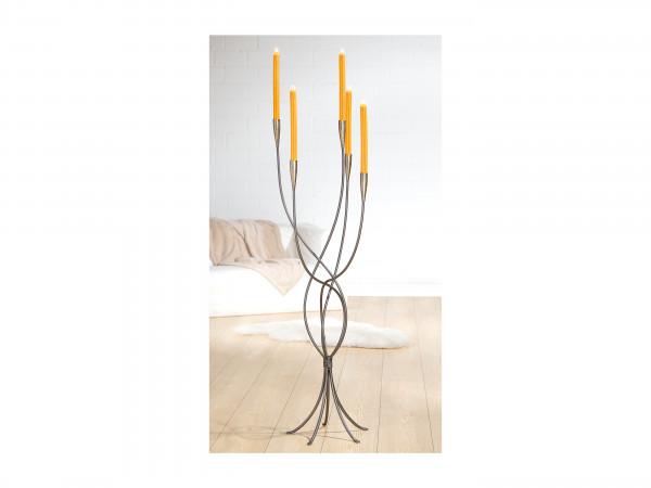 Kerzenständer groß silber 115cm 5-flammiger Standleuchter Becco von Gilde