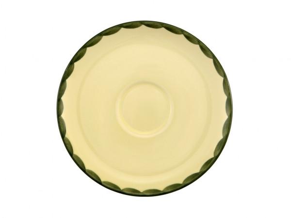 Zeller Keramik Hahn und Henne Cup Untertasse 18 cm