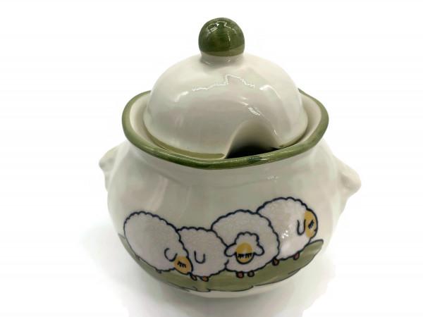 Zeller Keramik Schäfchen Zuckerdose 0,40 l