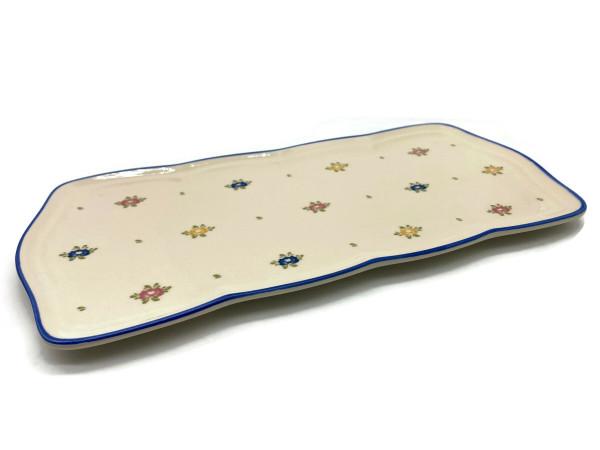 Zeller Keramik Petite Rose Stollenplatte 35 x 16 cm
