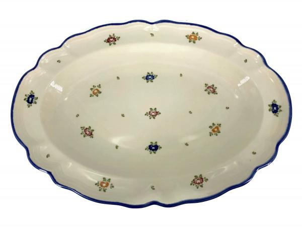 Zeller Keramik Petite Rose Platte, oval 31 cm