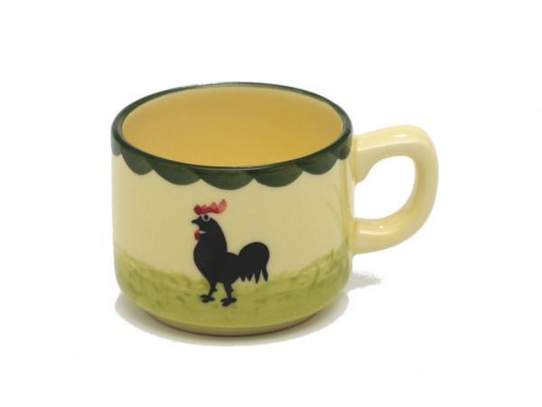 Zeller Keramik Hahn und Henne Espresso Obertasse Stapelbar 0,07 l
