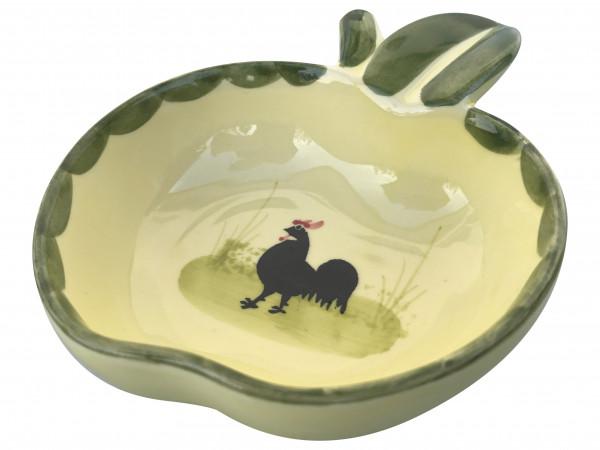 Zeller Keramik Hahn und Henne Schälchen Apfelform 12 cm