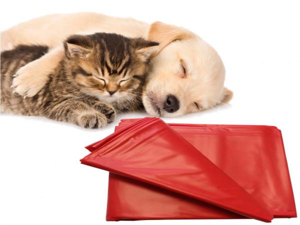 Haustier Unterlage für Hunde und Katzen 200x230 abwaschbar rot flexibel