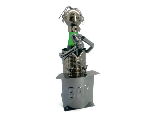Weinflaschenhalter Metall Figuren Barkeeper Butler und Kellner