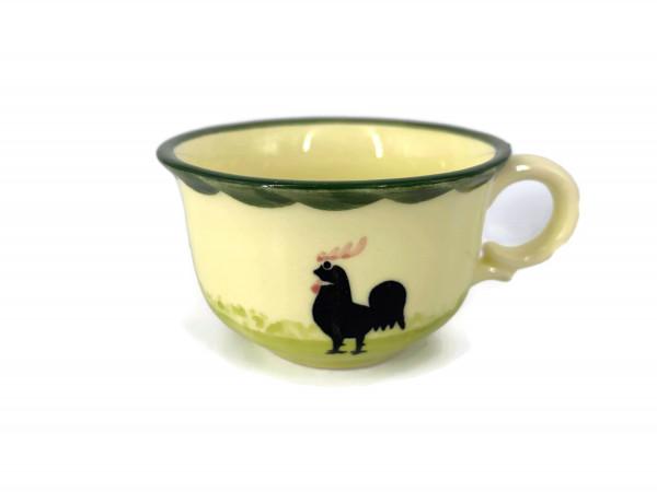 Zeller Keramik Hahn und Henne Espresso Obertasse 0,07 l