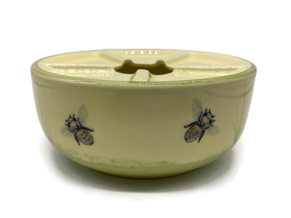 Zeller Keramik Biene Teewärmer Stövchen im Dekor 16 cm