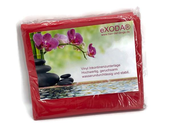 Inkontinenzlaken Unterlaken Matratzenauflage rot 200x230 cm Inkontinenzauflage Inkontinenz-Bettlaken auch für Kinder von eXODA