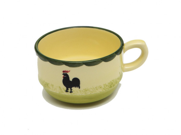 Zeller Keramik Hahn und Henne Obertasse stapelbar 0,18 l