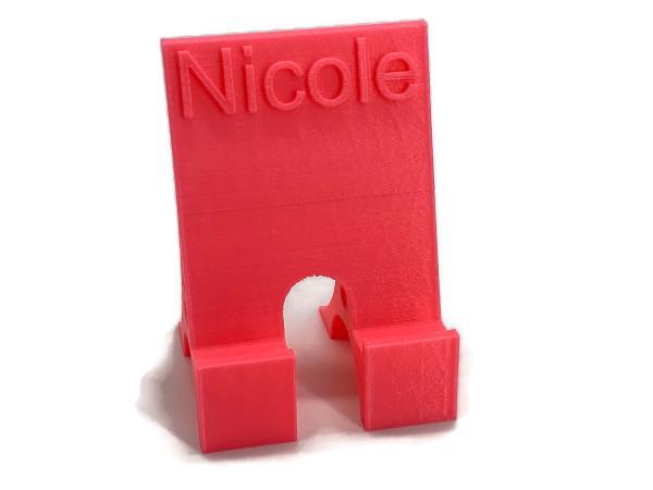 Smartphone Ständer mit Namen Nicole