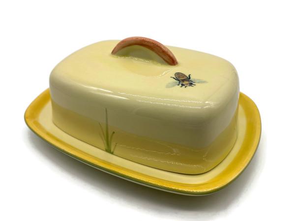 Zeller Keramik Biene Butterdose mit Knauf 250 g