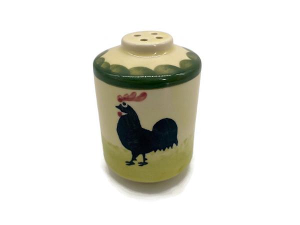 Zeller Keramik Hahn und Henne Salzstreuer 7 cm