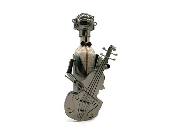 Weinflaschenhalter Musik Figuren Cellospieler Musiker Francesco