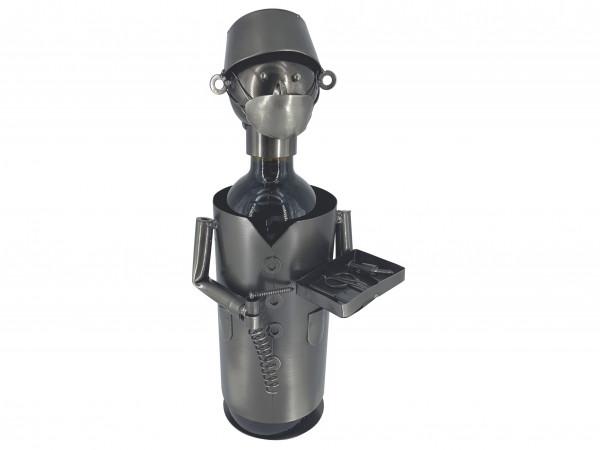 Weinflaschenhalter Metall Figuren Chirurg Olaf Design Deko